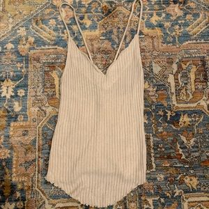 Free People scallop low back tank top